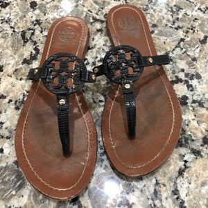 Tory Burch Mini Miller Leather Sandals